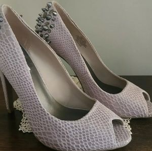 Simply Vera Size 8M Grey Studded Hi Heel Shoes